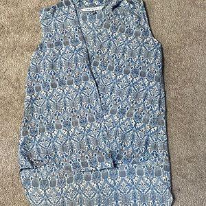 (3/$15)MaxStudio asymmetrical sleeveless blouse XS